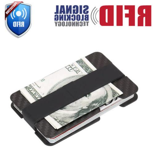 RFID Carbon Minimalist Wallet ID Card Holder
