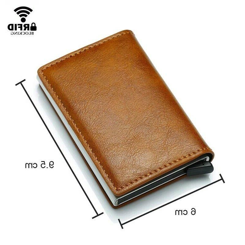 RFID Leather Credit Holder Cash
