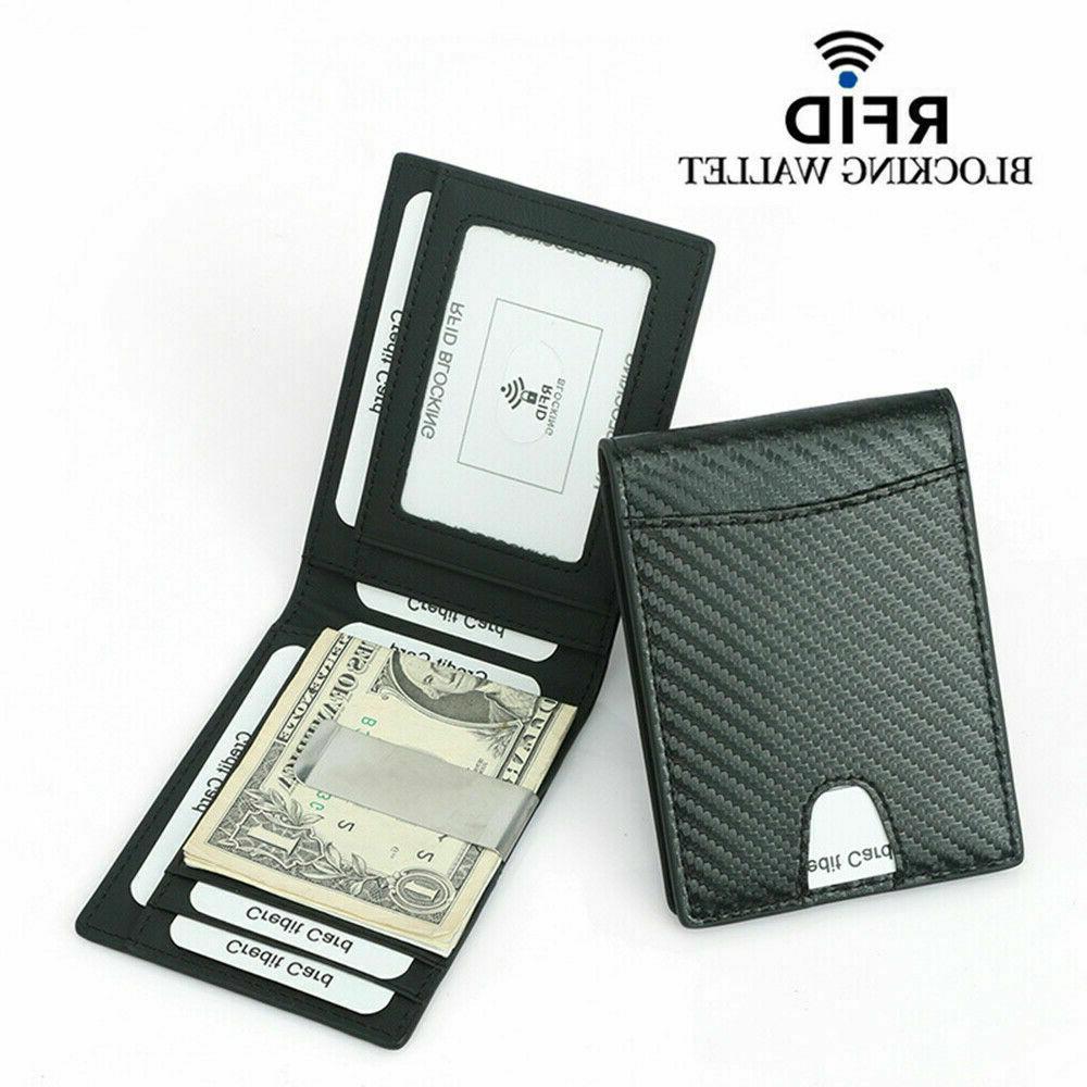 RFID Fiber Slim Wallet Card ID Purse