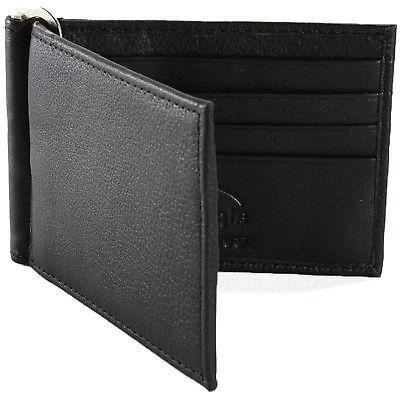 Alpine Swiss RFID Mens Wallet Leather Pocket Spring Money
