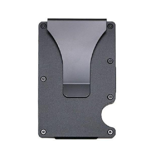 RFID BLOCKING Slim Ridged Clip Credit