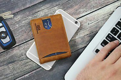 RFID Blocking Leather Front Wallets for Men Clip