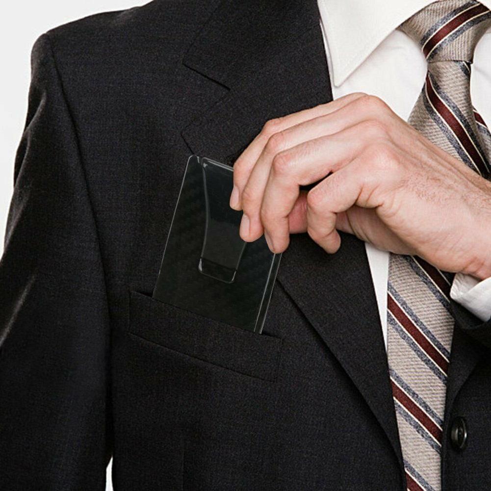 RFID Blocking Mens Carbon Money Clip