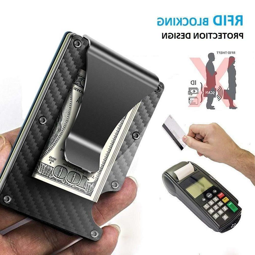 RFID Blocking Wallet Carbon Minimalist Pockets Money