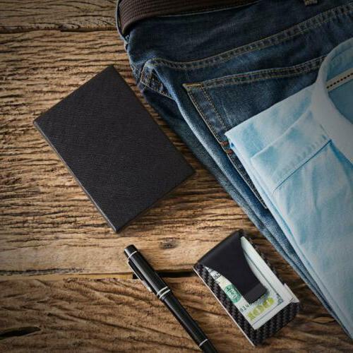 RFID Wallet Money Carbon Fiber Credit Card Metal