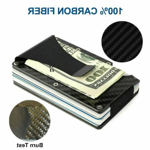 RFID Blocking Slim Money Carbon Fiber Credit Metal