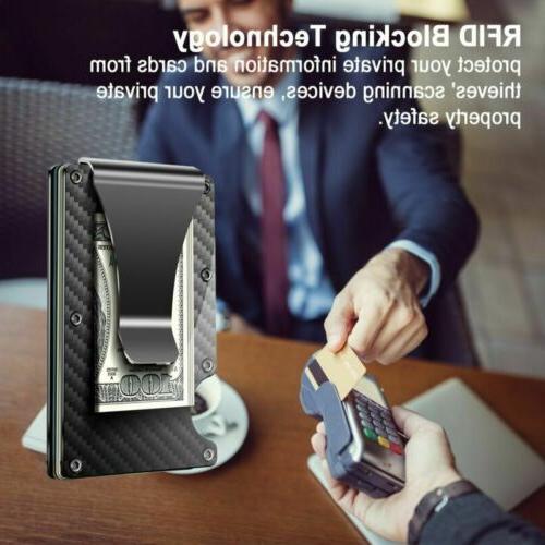 RFID Money Men's Fiber Card Holder Metal