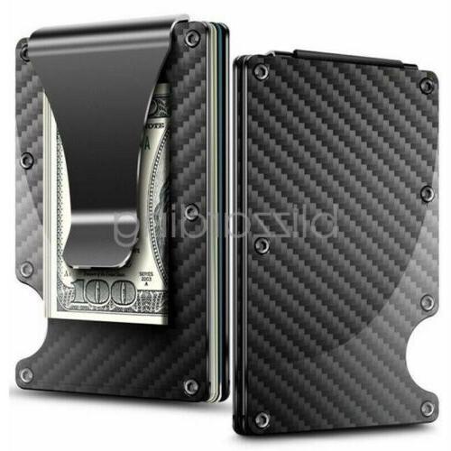 rfid mens wallet blocking carbon fiber minimalist