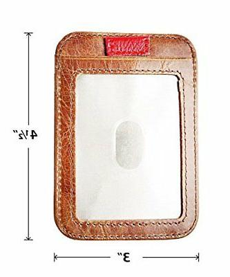 RFID Genuine Leather Front,