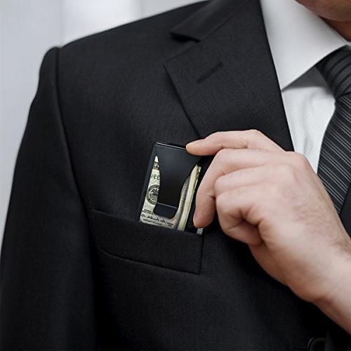 ITALL RFID Clip Black Business Card Credit ID Card