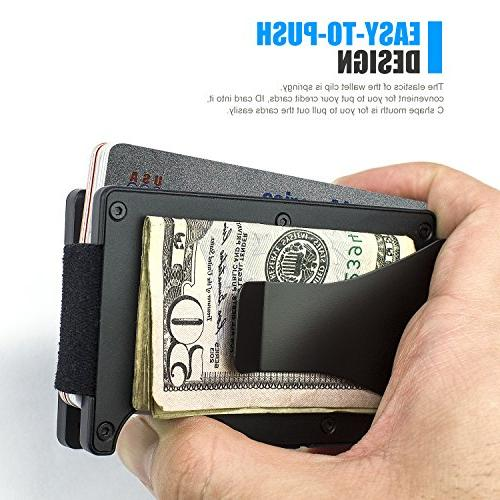 ITALL RFID Clip Case,Minimalist Card Holder,Slim Card Protector Men