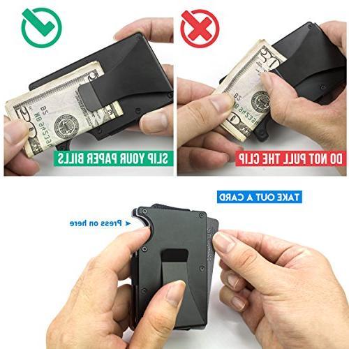 ITALL Money Clip Case,Minimalist Black Business Card Credit Men