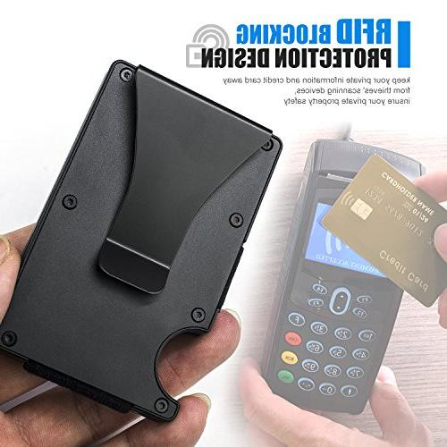 ITALL RFID Clip Black Business Card Credit Card Protector Men