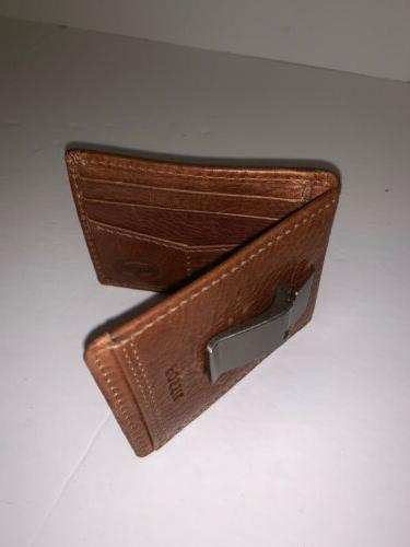 Fossil clip card wallet leather mens ID