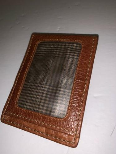 saddle money clip card wallet leather mens