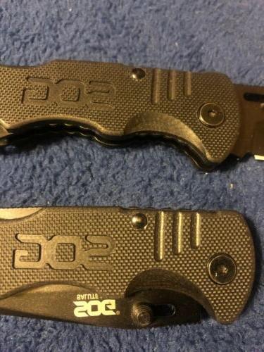 SOG SALUTE Folder Knife Hardcased Plain Edge FF11