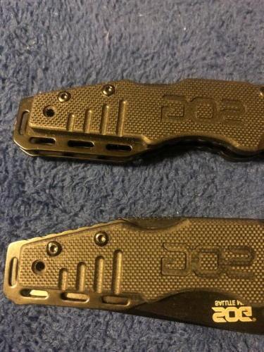 SOG SALUTE Knife Hardcased Plain Edge FF11 New
