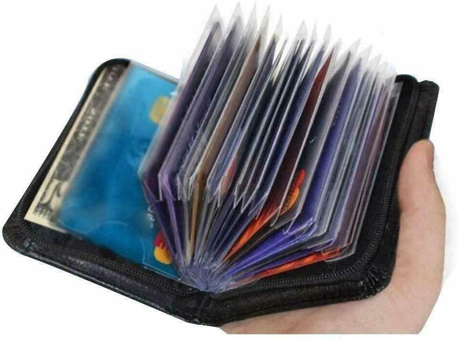 Secure Lock Wallet Men Women Card Money Clip Wallets
