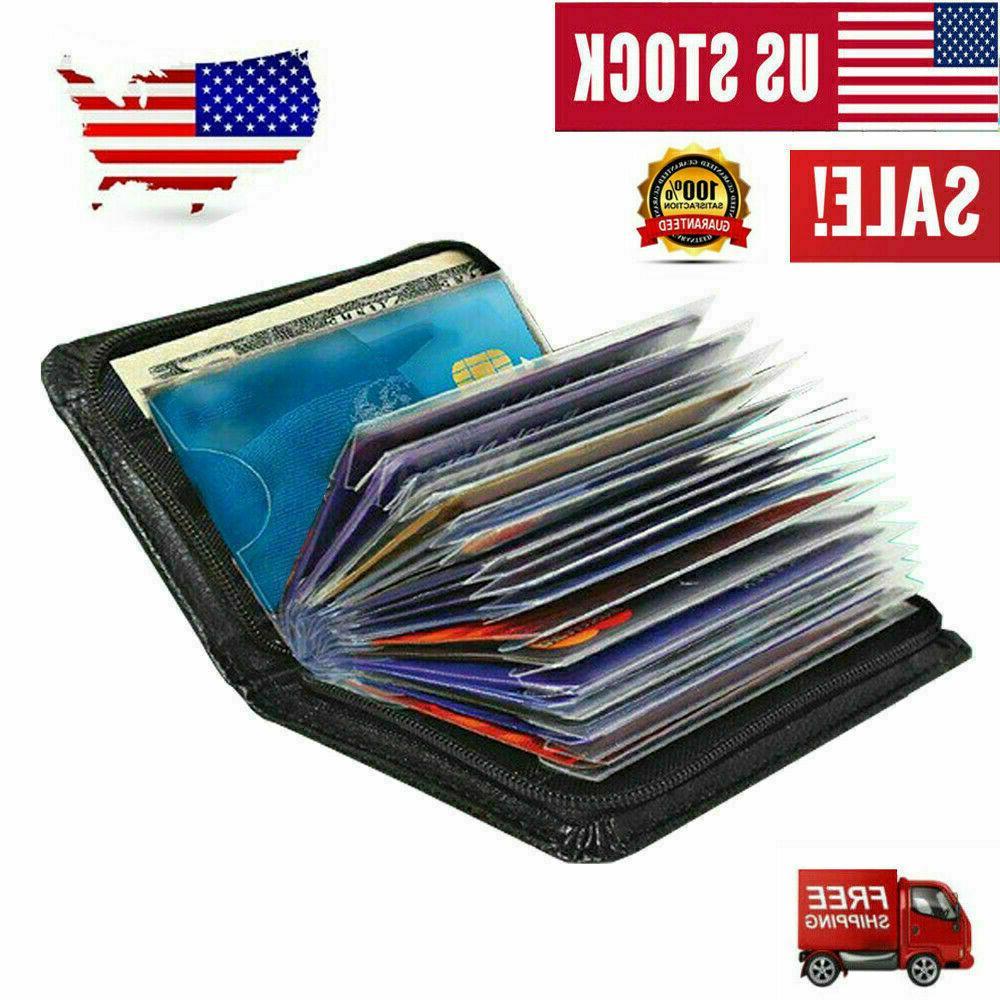 Secure Lock Wallet Card Holder Money Wallets