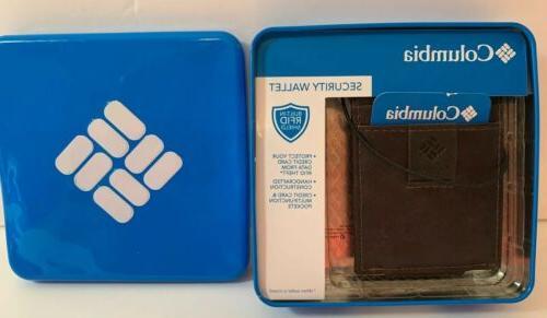 security wallet built in rfid shield brown
