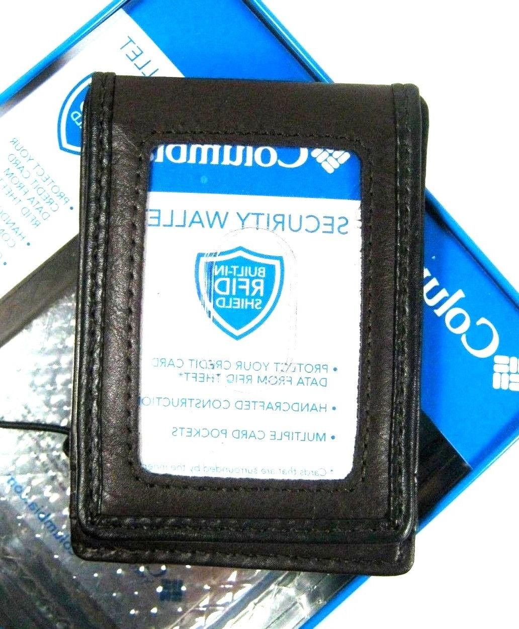 Columbia Security Wallet Magnetic Money RFID Blocking Brown