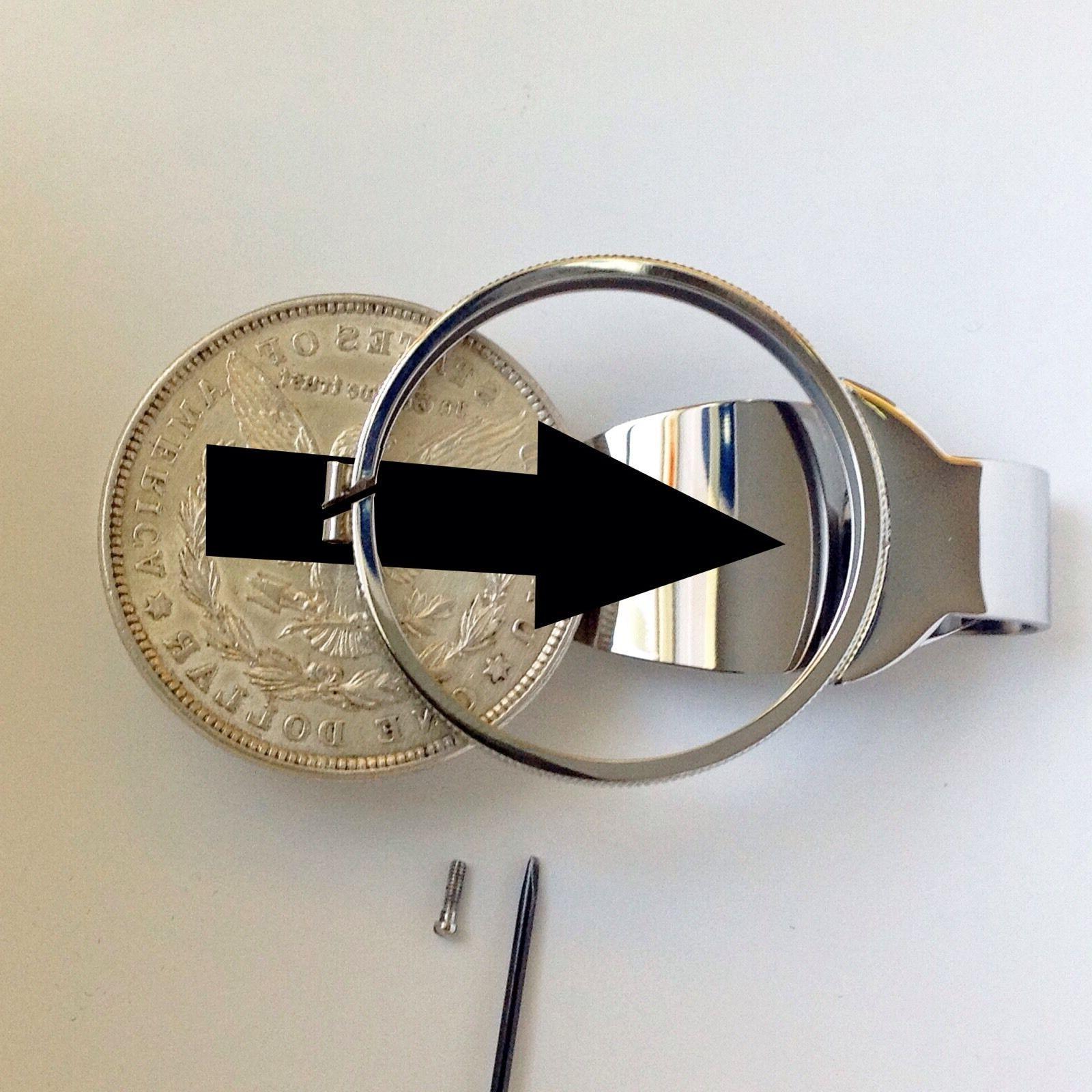 Silver Dollar Size Clip Bezel