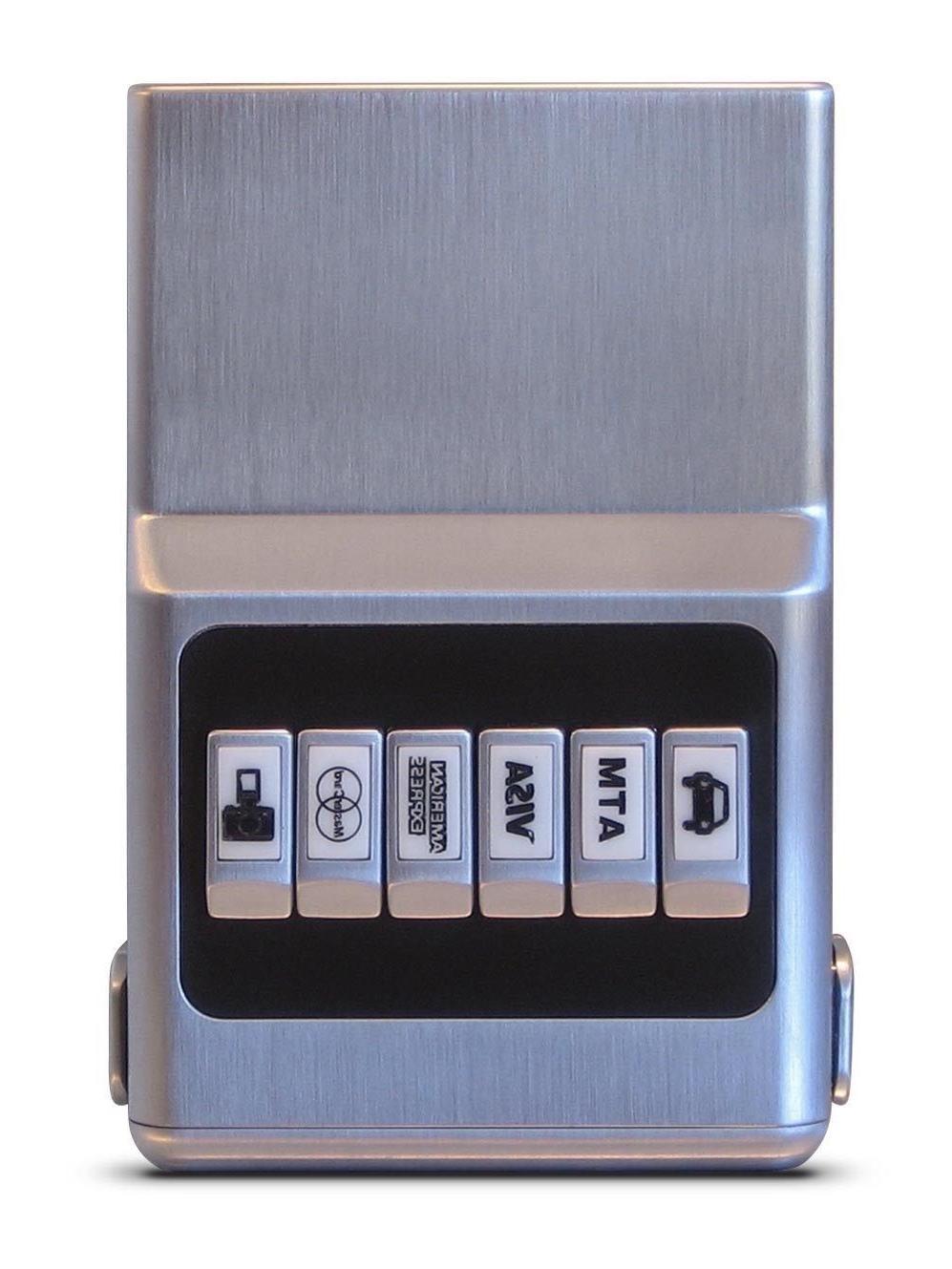 SILVER ACM Wallet Unisex - Credit Card Organizer and Money C