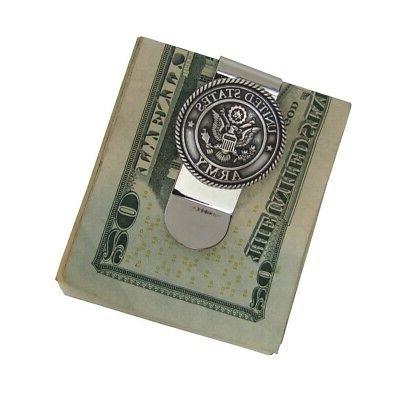 Silver 3D Seal Money Mens Concho Holder Wallet