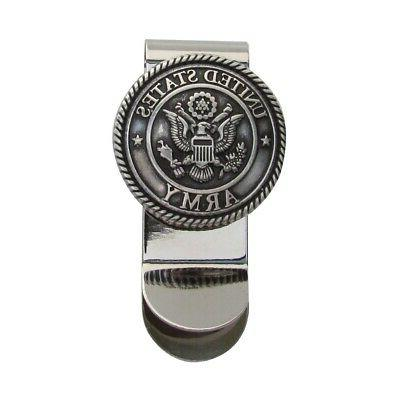 silver us army 3d seal money clip