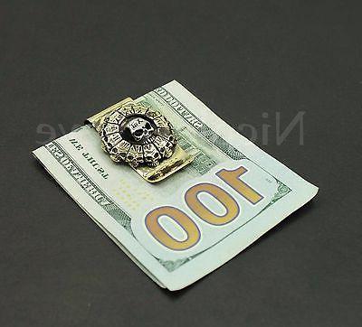 Skull Steel Money Clip Holder 3D