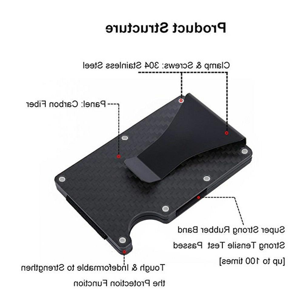 Slim Carbon Metal Wallet