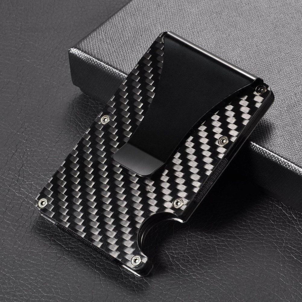 Slim Card RFID Blocking Metal Wallet