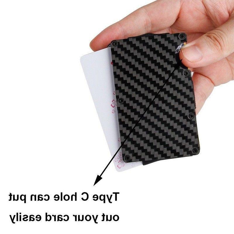 Slim Carbon Fiber Credit Card Metal Wallet