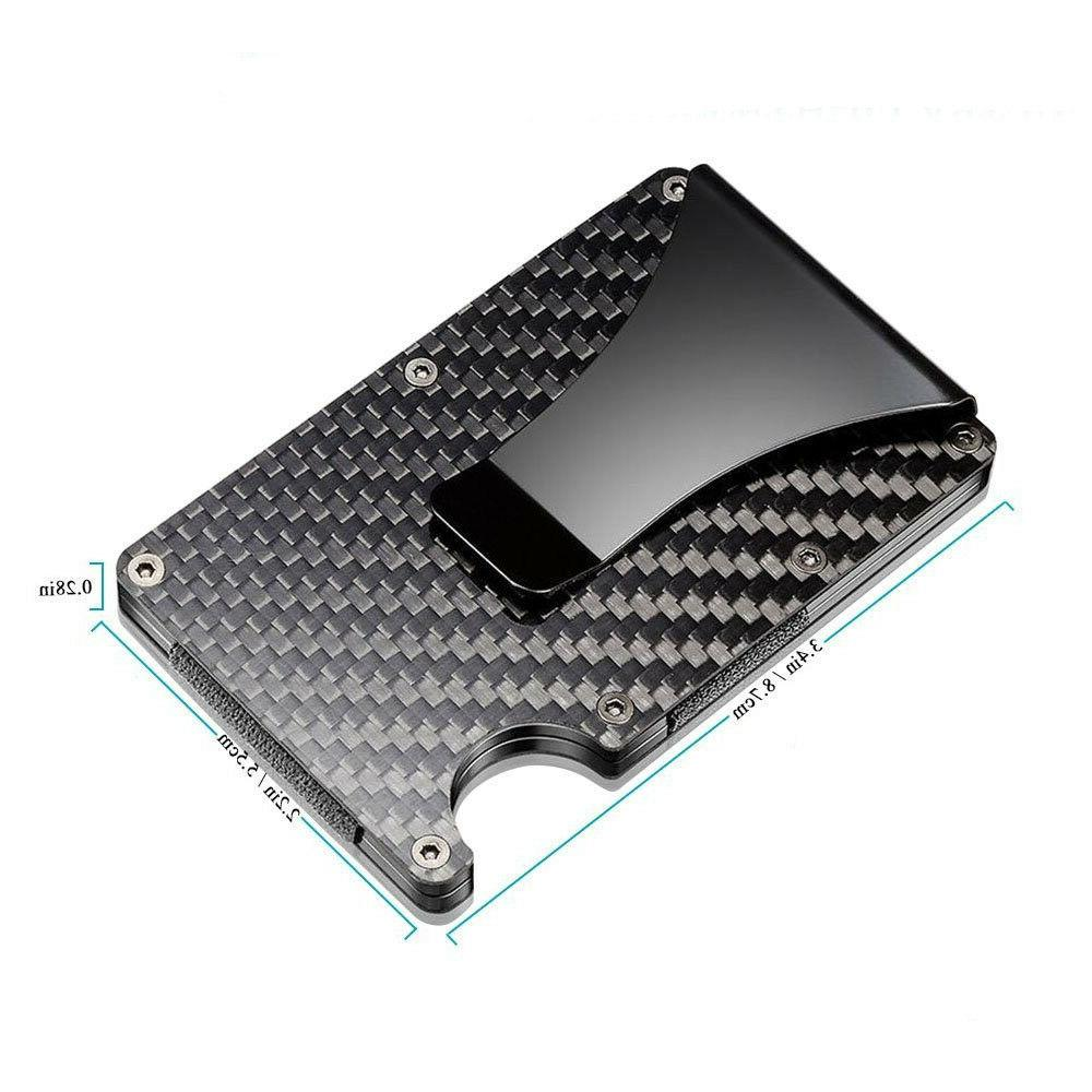 Slim Fiber Credit Card Metal Clip Wallet