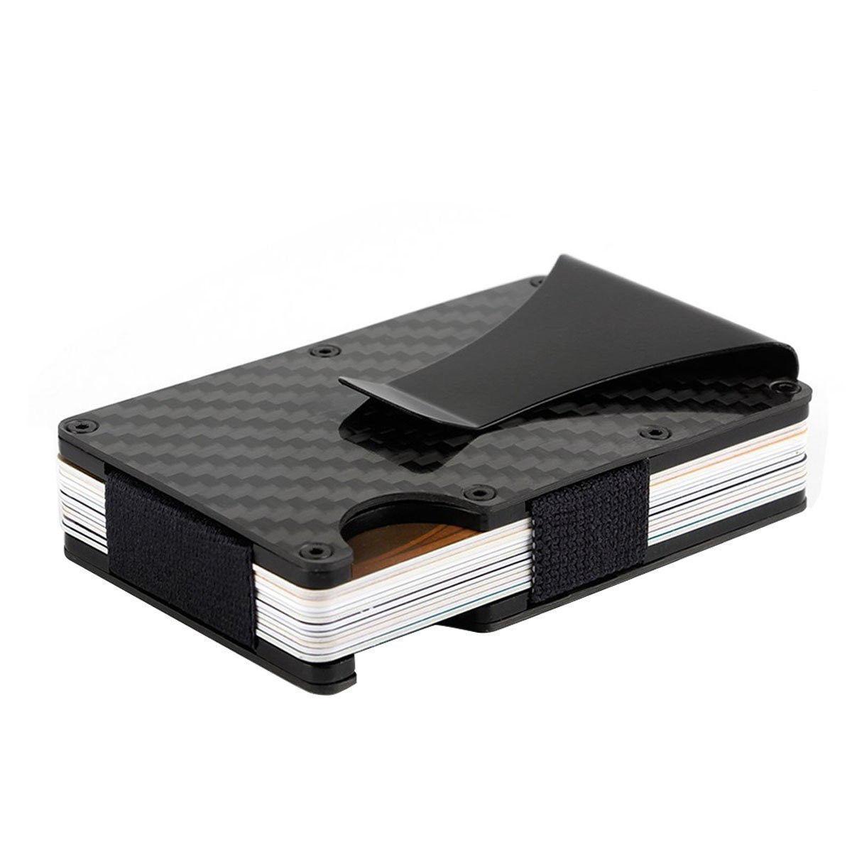 Slim Carbon Card Metal Money Purse Wallet