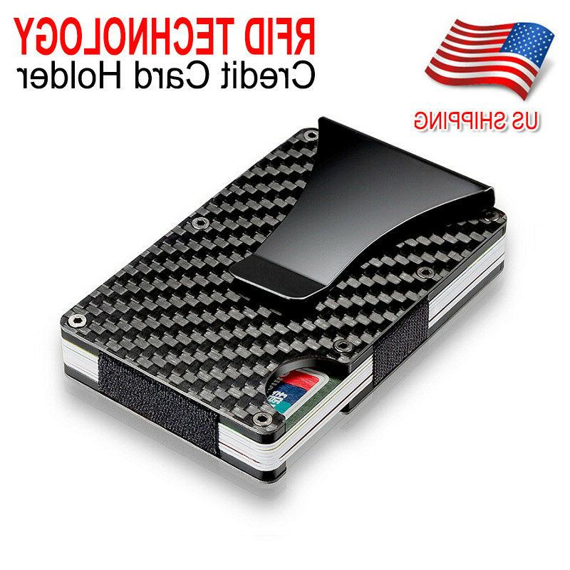 slim carbon fiber credit card holder rfid