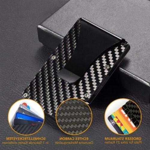 Slim Fiber Credit Card Metal Clip Purse