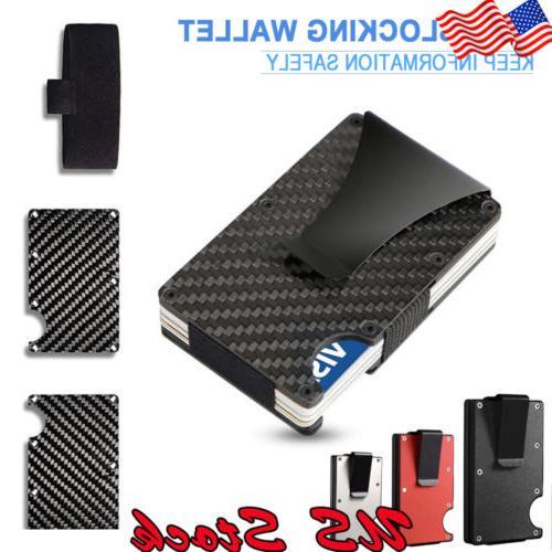 slim carbon fiber id credit card holder