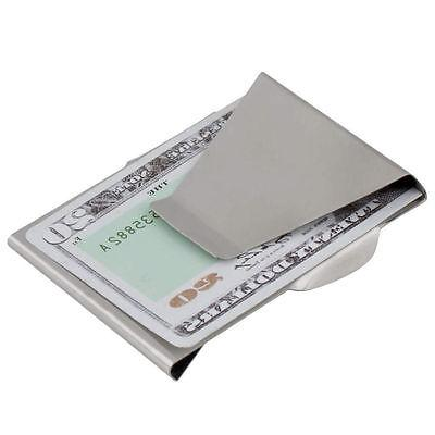 $Slim Money Clip Card Holder Wallet New Steel