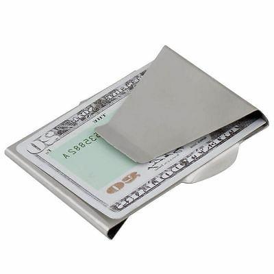 $Slim Money Clip Card Holder Wallet New Steel