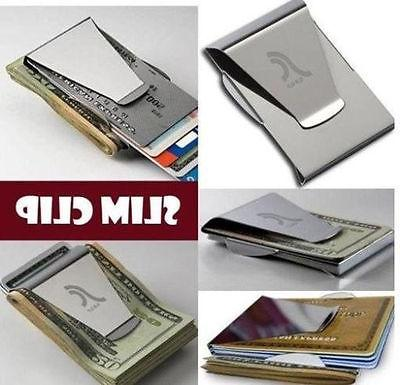 $Slim Double Money Credit Holder New Steel