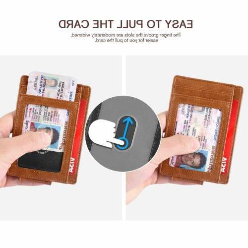 Slim Bifold Pocket Wallet Strong Magnet men