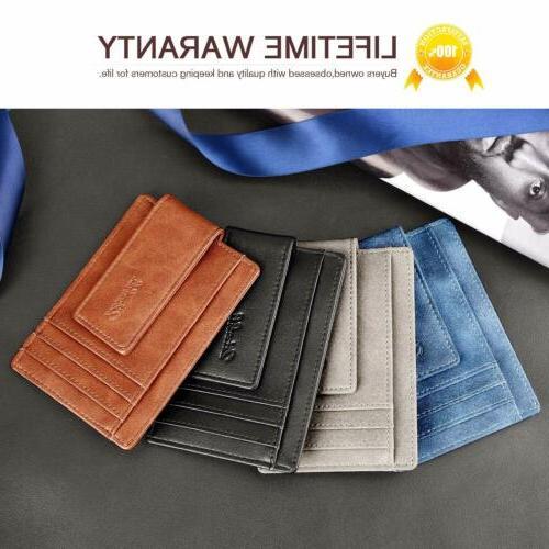 Slim Bifold Front Pocket with Magnet Money men