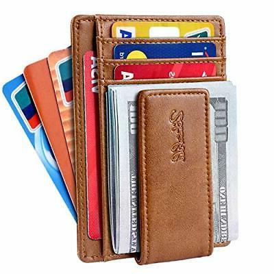 slim minimalist bifold front pocket wallet