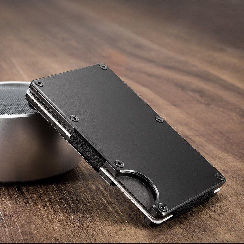 RFID Aluminum Wallet Front Packet Holder