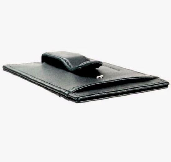 "Money Clip Alpine Men's Black Leather Wallet GIFT"""
