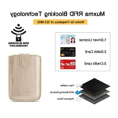Slim PU Card Holder Money