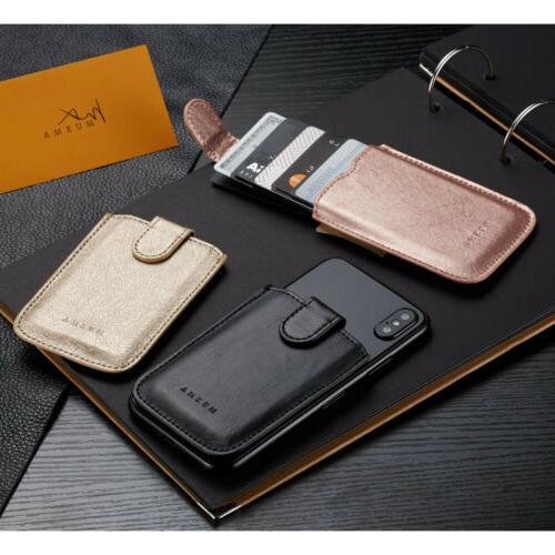 Slim Leather Card Wallet Holder Money Clip Coins Purse Pocket