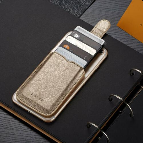 Slim Leather Card Clip Coins