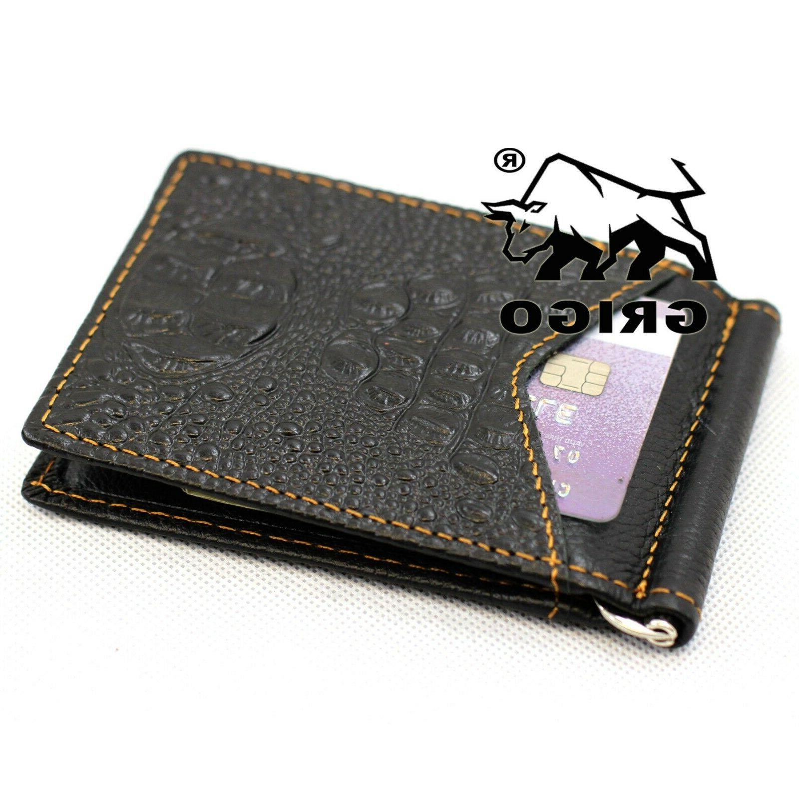 Slim Wallet Card ID Holder Pocket